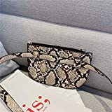Mdsfe Bolsos para Mujer 2020 Vintage Luxury Designer Serpentine Handbag Chain Leather Flap Clutch Purse Ladies Shoulder Crossbody Bag Sac - Marrón2