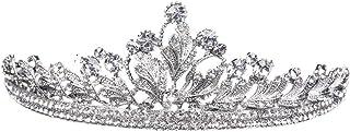 FENICAL ブライダル ティアラ ヘアバンド プリンセス 花嫁 結婚式 ウェディング 王冠 クラウン クリスタル 髪飾り ヘアアクセサリー