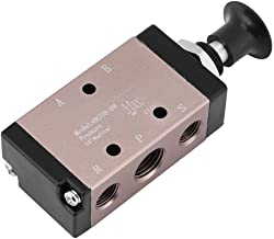 Handhebelventil 2-Position 5-Wege Pneumatik Ventil Druckluftventil PT 1//4zoll DE
