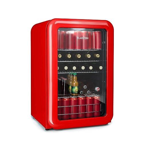 Klarstein Poplife Nevera de Bebidas • Nevera Retro • Mininevera • 115 litros • 0-