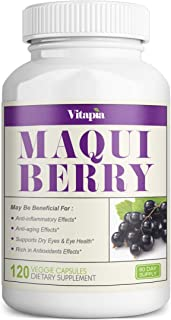 Vitapia Maqui Berry 1000mg - 120 Veggie Capsules - Vegan and Non-GMO - High Quality Superfood - Rich in Ant...