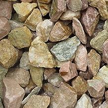 天然石 砕石砂利 3-4cm 300kg ピーチピンク (ガーデニングに最適 ピンク砂利)