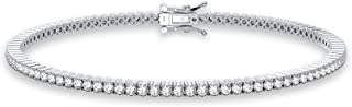 Femme Luxe Sara Diamond Tennis Bracelet for Women (2.00 Carats, G-H Color, I2 Clarity), 14K White or Yellow Gold, with Gif...