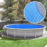 Pool Mate 18S-8SBD BOXPM Deluxe Solar Blanket for Above Ground Swimming Pools, 18' Round Pool, Blue/Silver, 5-Year Blue/Silver