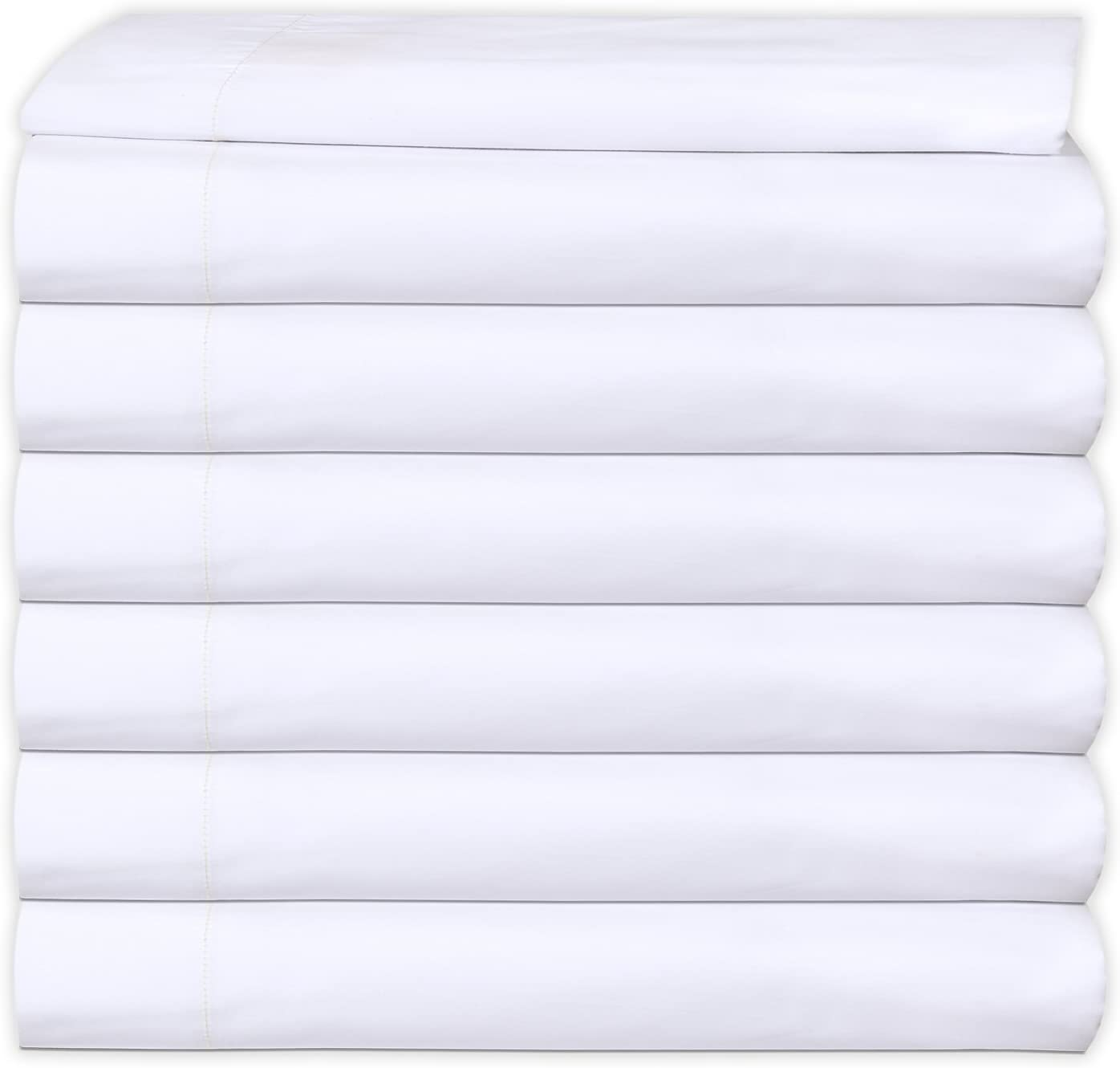 6 Flat Sheet White T-200 Percale in Bulk Linen Ranking TOP13 High quality Hotel Available