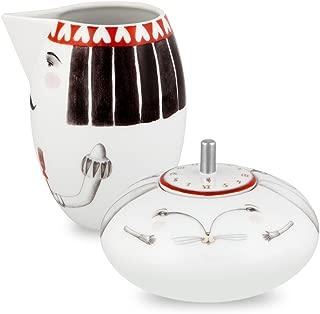 VISTA ALEGRE - TEA WITH ALICE (Alice In Wonderland) (Ref # 21116979) Porcelain Sugar Bowl & Milk Jug Set
