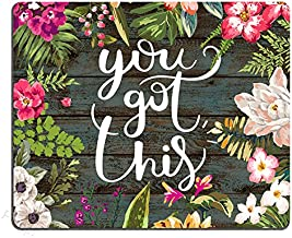 Pingpi Floral Mouse Pad Motiavation Quote You Got This Neoprene Inspirational Quote..