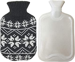 Hot Water Bag, Mini Hot Water Bottle 0.5l Heat Water Bottle with Cute Knit Cover for Kids, Women Traveling, Hand Foot Warm...