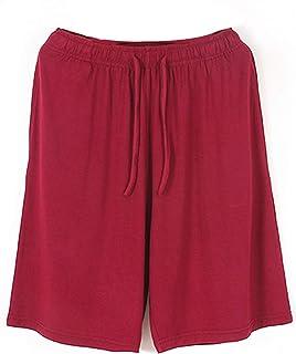 Abtel Casual Pajama Bottom for Men Solid Color Pyjamas Shorts with Elastic Waist Drawstring Nightwear Lounge Wear Sleepewe...