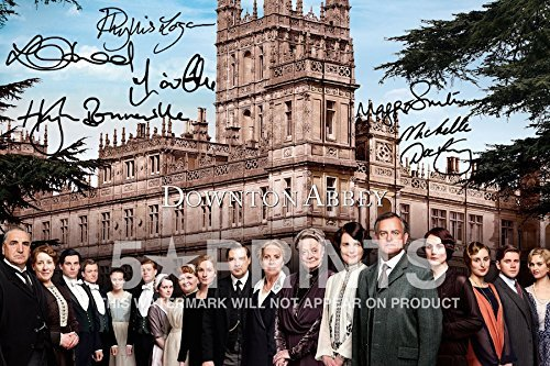 Póster de Downton Abbey (30,5 x 20,3 cm), firmado por 6 Cast...