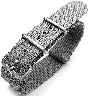 Cinturino orologio con cinturino 20mm o 22mm Fibbia termosaldata in nylon pesante termosaldato - Grigio chiaro M.