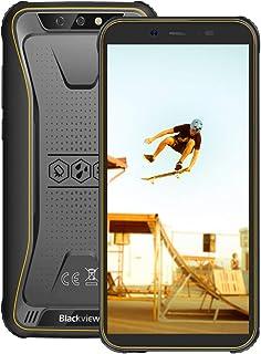 Blackview BV5500 Pro 4G デュアルSIMフリースマートフォン本体 5.5インチ18:9 HD 全画面 3GB RAM 16GB ROM 4400 mAh 大容量 バッテリー IP68 防塵 防水 耐衝撃 アウトドア 携帯電話本体 オクタコア Android 9.0 SONY デュアルカメラ 8MP+5MPカメラ 指紋認識 NFC GPS コンパス LED懐中電灯【一年保証】