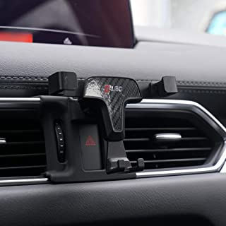 (Carbon fiber pattern) - Beerte Phone Holder fit for Mazda CX-5 2017 2018 2019,Adjustable Air Vent,Car Dashboard Cell Phon...