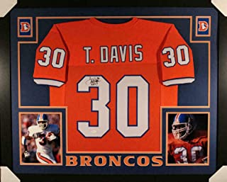Terrell Davis Signed Jersey - Framed Orange XL 20160 - JSA Certified - Autographed NFL Jerseys