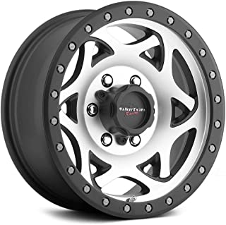 Walker Evans 501MB Legend Satin Black with Diamond Cut Face Wheel with Painted Finish (15 x 8. inches /5 x 5 inches, -19 mm Offset)