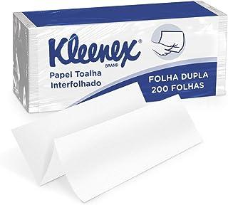 Papel Toalha Interfolhado Folha Dupla - Pacote com 200 Folhas, Kleenex