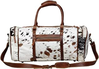 Amore Cowhide & Leather Duffle Travel Bag S-1122