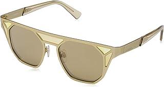 نظارات شمسية نمط افياتور للنساء DL024932G من ديزل- لون ذهبي/ بني