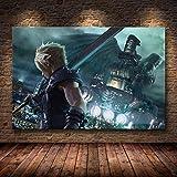 UHvEZ 1000 Pieces_Children's Wooden Puzzle Final Fantasy Juego Educativo de Rompecabezas Ensamblar Juguetes Adultos Rompecabezas Regalo para niños 50x75cm