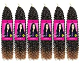 6 Packs Passion Twist Hair 18 Inch Bohemian Crochet Braids for Passion Twist Crochet Braiding Hair Water Wave Synthetic Crochet Hair Extensions 22 Strands/Pack (18' 6pcs, T27)