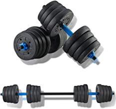 Adjustable Fitness Dumbbells Set, Free Weights Dumbbells Set Can Be Used As Barbell for Home Gym