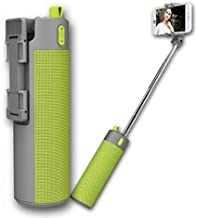 CLOMANA Gabru Rich N Royal Portable Bluetooth Speaker Power Bank Selfie Stick Phone Holder with TF Card Slot Compatible for Smartphones (Multicolour)