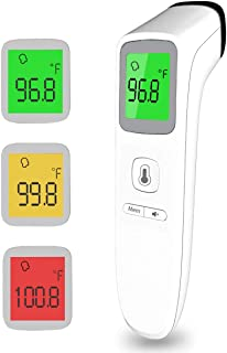Forehead Thermometers Non Contact, Infrared Digital Thermometer for Adults, Fever Alarm 35 Groups Memory Recall 1 Second Reading Thermal Thermometer for Kids, Baby