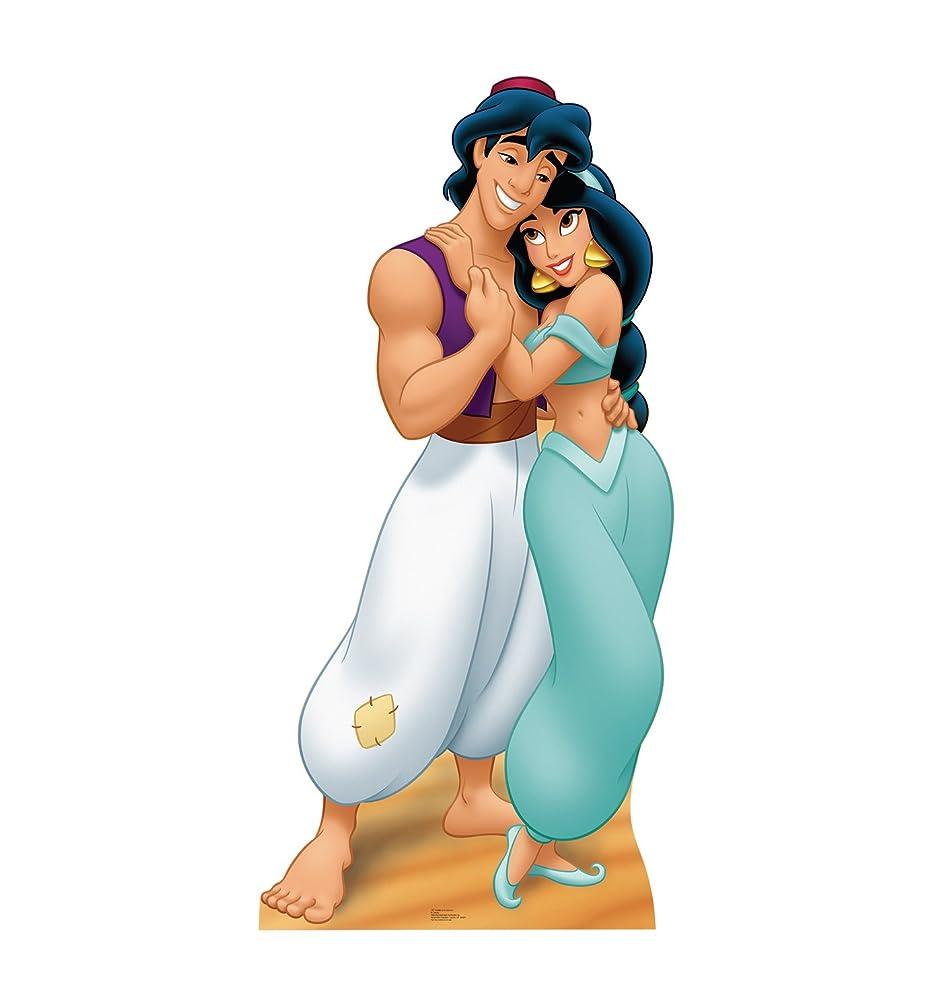 Advanced Graphics Aladdin & Jasmine Life Size Cardboard Cutout Standup - Disney's Aladdin