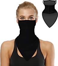 Bandana Face Mask for Men Women, Neck Gaiter Earloops Rave Balaclava Cover Scarf