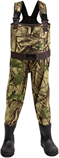 LONECONE Kids' Neoprene Camo Chest Waders with Boots