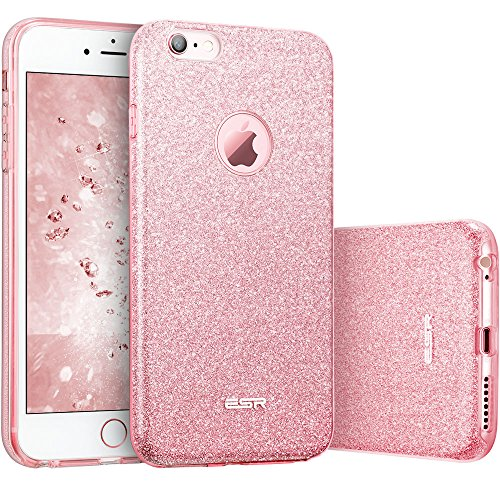 """ESR Case for iPhone 6/6s, Luxury Glitter Sparkle Bling Designer Case [Slim Fit, Hard Back Cover] Shining Fashion Style Compatible for iPhone 6/6s 4.7"""" (Pink)"""