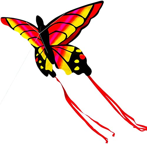 2021 Kite for Kids and Adults Colorful Butterfly Kite for Outdoor Games Activities Single Line Kite with Flying Tools lowest Easy to Fly Come with String and Winder Beach and Park Kite lowest 52In (Red) online