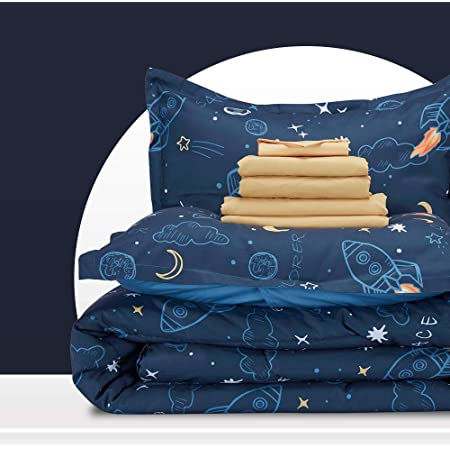 Waverly Kids 18226BEDDTWNMUL Reversible Bedding Collection Multi Twin