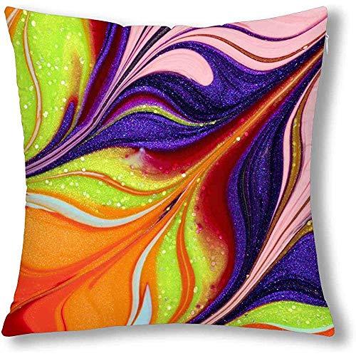 DayToy Lustige abstrakte farbige Nagellack Throw Cushion Kissenbezug Cover, Square Zippered...