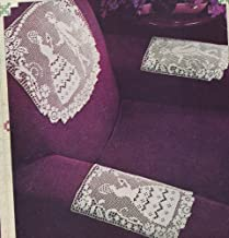 Vintage Crochet Pattern to make - Crinoline Girl Lady Filet Doily Chair Set. NOT a finished item. This is a pattern and/or instructions to make the item only.