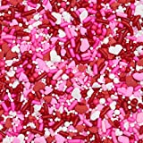 Classic Happy Valentine's Day Baking Cupcake Cake Decoration Confetti Sprinkles Cake Cookie IceCream Donut Jimmies Quins - 6oz