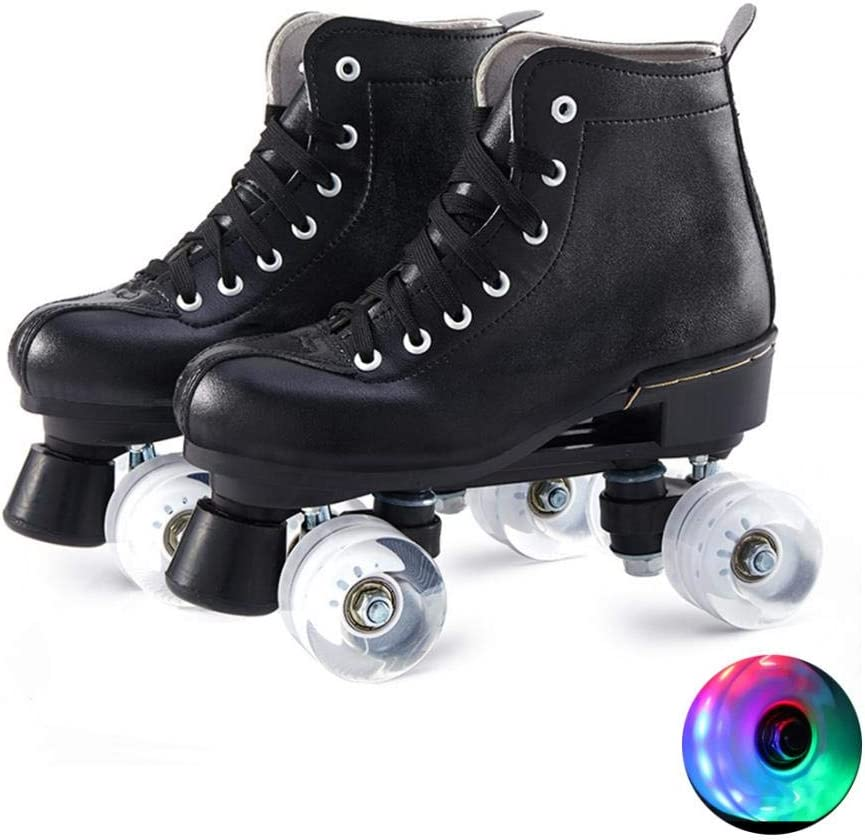 Unisex Adjustable Omaha Mall Roller Skates PU Leather trust Premium