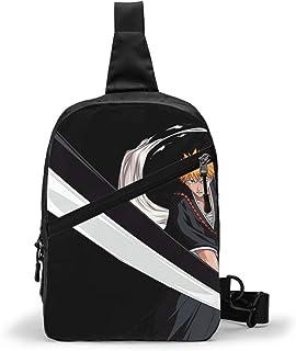 Bleach Ichigo Kurosaki Bolso Bandolera De Hombre Bolso Cruzada Hombre Bolsa De Pecho Sling Bag Crossbody Para Al Aire Libr...