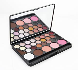 FantasyDayR Pro 28 Colors All In One Eyeshadow Contouring Makeup Kit Carry All Cosmetic Camouflage Makeup Palette Including Eyebrow powder, Contouring Face Powder, Blush and Brush #1