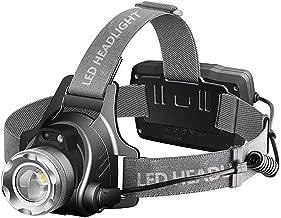 XINGTAO Hoofd fakkel Super Heldere LED Koplampen 18650 USB Oplaadbare Led Hoofd Lamp, IP65 Waterdichte Koplamp met 4 Modes...