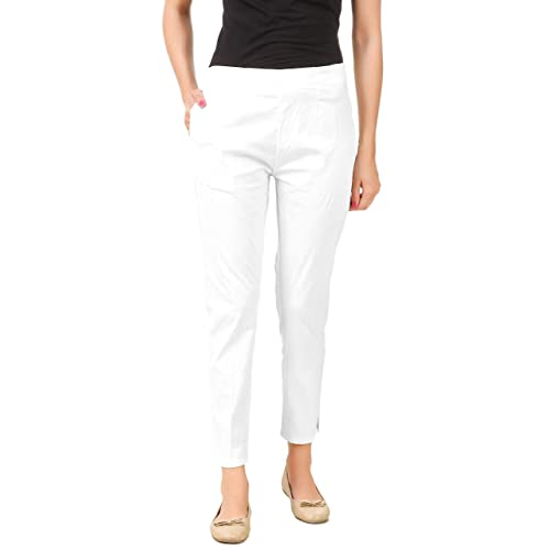 8658528cbd9 White Pants: Buy White Pants Online at Best Prices in India - Amazon.in