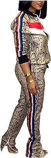 Remelon Womens 2 Piece Outfits Floral Print Jacket Suit Bodycon Pants Sweatsuits