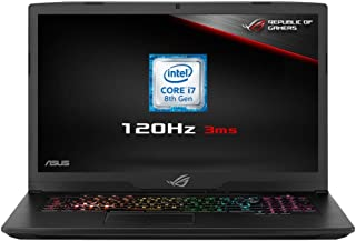 Asus 17.3 英寸 LED ?#22987;?#26412;电脑 - (黑色)(英特尔酷睿 i7 8750H 2.2 GHz,8 GB 内存,1 TB 混合硬盘带 131 GB SDD,NVIDIA GeForce GTX1060,Windows 10)GL703GM-EE063T  Full HD 120 Hz Screen/GTX 1060 Graphics/128 GB PCI-E SSD