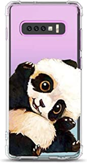 Oihxse Shockproof Case Compatible for Galaxy J2 Core Clear Back with Design, Soft Silicone TPU Ultra Thin Slim Fit Chic [Air Cushion] Corners Protection Crystal Transparent Cover(Panda)