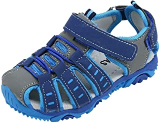 Beppter Boys' and Girls' Summer Outdoor Beach Sports Closed-Toe Sandals(Toddler/Little Kid/Big Kid)(Blue, 1-1.5Years)