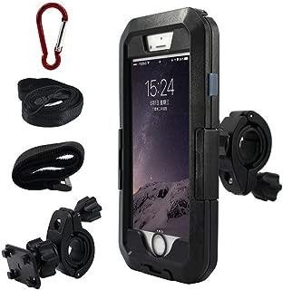 SJMLP Mobile Phone Holder Waterproof Motorcycle Phone Holder for iPhoneX 8 7 6s Bike GPS Holder Armor Phone Bag for iPhone6s Plus Support Telephone Moto