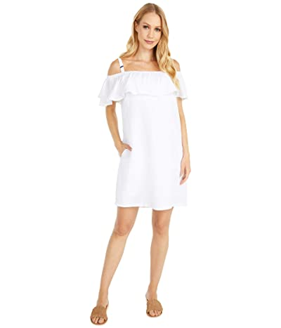 Tommy Bahama Linen Dye Off-the-Shoulder Dress Cover-Up (White) Women