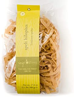 Agrozimi - Traditional Spelt Hilopítes - Artisanal Greek Pasta (Greek Fettuccine) - Bronze Die Cut & Naturally Air Dried - 500g/17.6oz