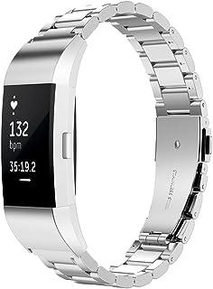 Simpeak Cinturino Compatibile per Charge 2 (5.5-8.1 Pollice), Cinturino Compatibile per Fitbit Charge 2 in Acciaio Inossid...