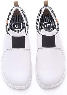 UIN Women Men's Unisex Brisbane Mircofiber Leather Sneaker Causal Tennis Shoes Travel Slip On Shoes